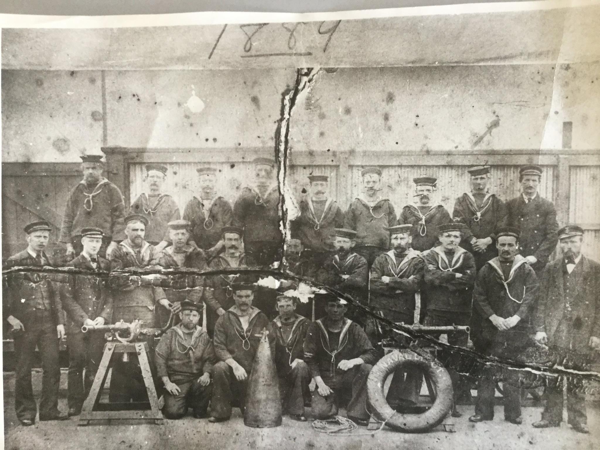 williamstown naval depot men in 1889 - Muster Depot