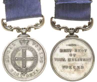 James Godfrey's Best Shot Medal.