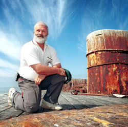 Friends of the Cerberus President John Toogood on board